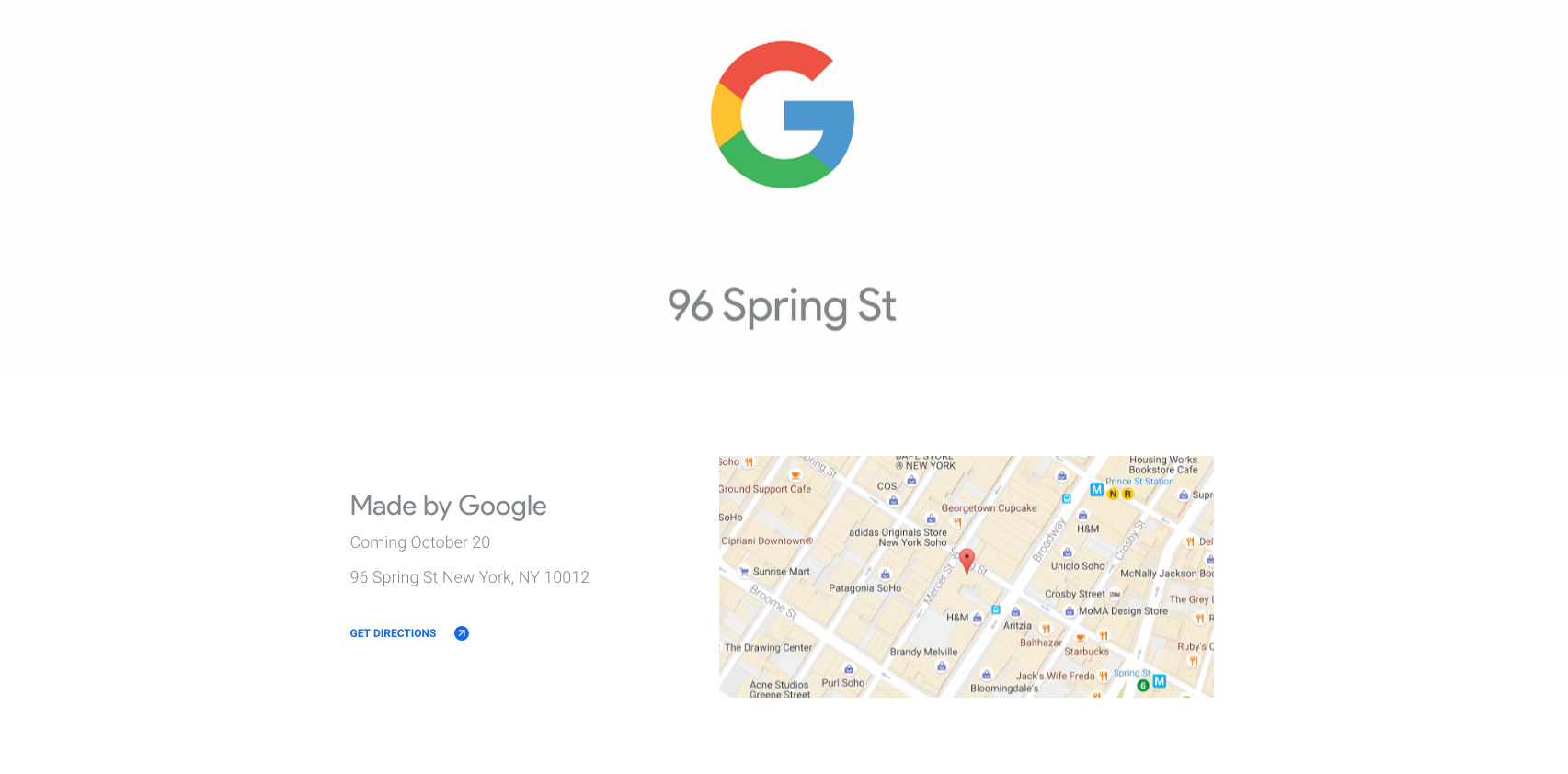 google pop up store nyc